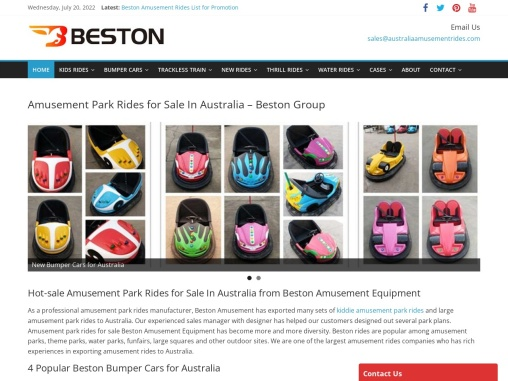 Amusement Park Rides for Sale In Australia