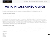 We Offer Best Auto Hauler Insurance in Newark