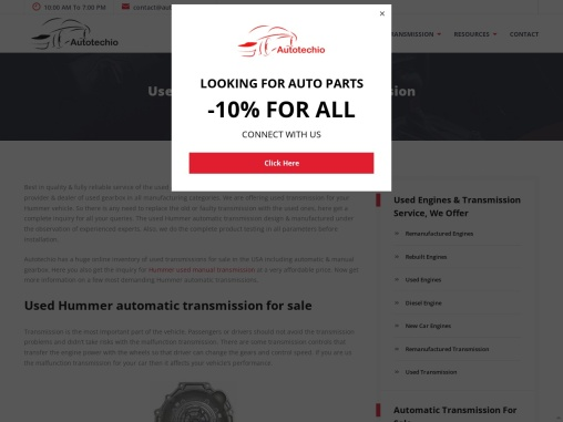 Used Hummer Automatic Transmission