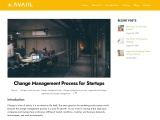 Change Management Process for Startups.