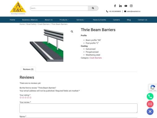 Thrie beam crash barrier supplier in India