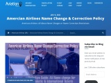 American Airlines Name Changes / Correction Policy