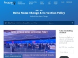 Delta Name Change/Correction Policy for Domestic & International Tickets