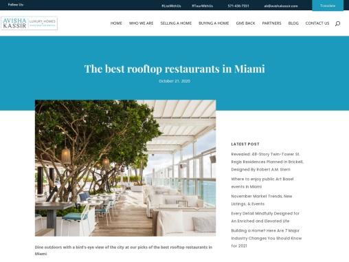 The best rooftop restaurants in Miami