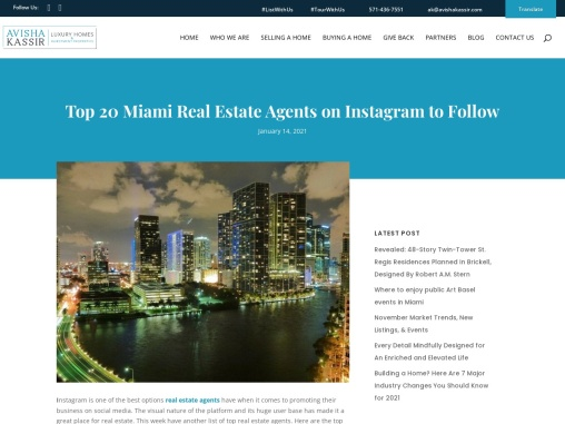 Top 20 Miami Real Estate Agents on Instagram to Follow
