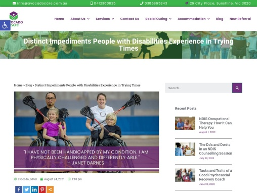 Distinct Impediments People with Disabilities Experience in Trying Times