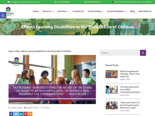 Effects Learning Disabilities to the Social Skills of Children