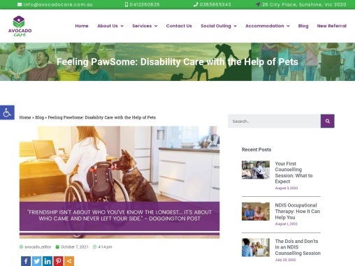 Feeling PawSome: Disability Care with the Help of Pets