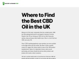 BEST CBD OIL IN THE UNINTED KINGDOM