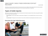 ANKLE INJURY: CHECK THESE EXERCISES FOR FAST RECOVERY