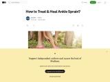 How to Treat & Heal Ankle Sprain?