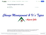 Change Management & It's Types