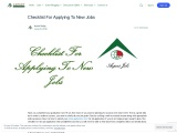Checklist For Applying To New Jobs