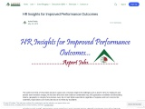 HR Insights for Improved Performance Outcomes