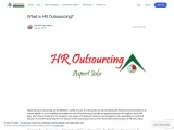 What is HR Outsourcing?