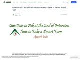 Questions to Ask at the End of Interview – Time to Take a Smart Turn