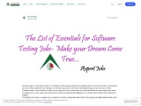 The List of Essentials for Software Testing Jobs
