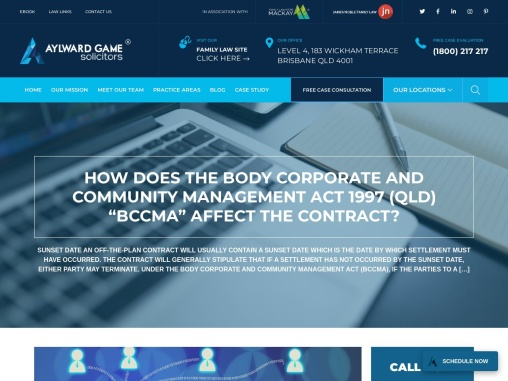 """HOW DOES THE BODY CORPORATE AND COMMUNITY MANAGEMENT ACT 1997 (QLD) """"BCCMA"""" AFFECT THE CONTRACT?"""