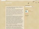 Controlling Madhumeha (Diabetes Mellitus) An Ayurvedic Approach