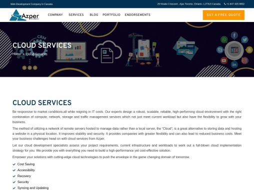 Providing Cloud Services in Canada