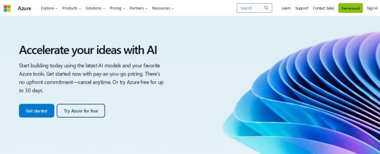 screenshot of Microsoft Azure