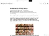 Search Public Records Online -backgroundcheckme
