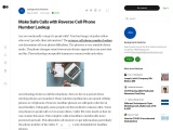 Make Safe Calls with Reverse Cell Phone Number Lookup