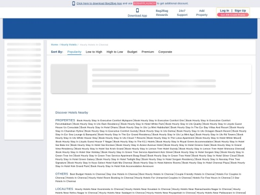 Hourly Hotels in Chennai | Short Stay Hotels in Chennai |Bag2Bag