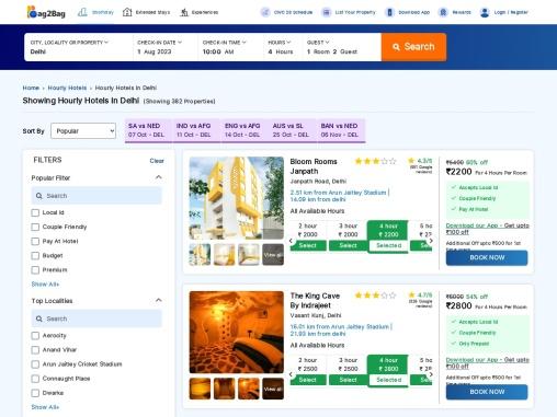 Book Hourly Hotels In Delhi | Book Early Checkin Hotels In Delhi | 5 Star Hotels – Bag2Bag