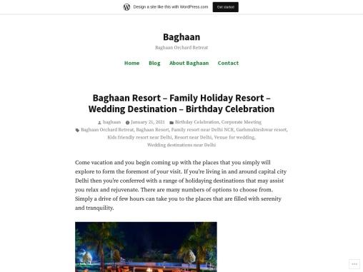 Baghaan Resort – Family Holiday Resort – Wedding Destination – Birthday Celebration