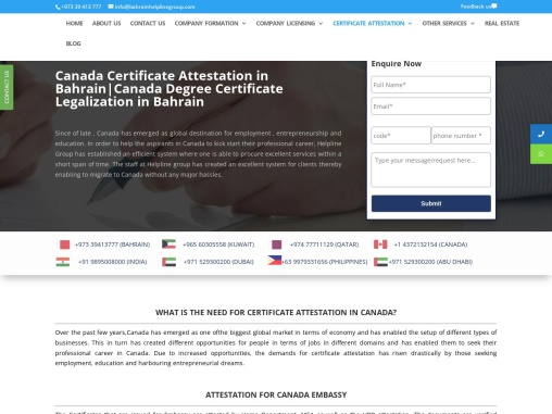 Certificate Attestation Services for Canada