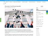 Education Certificate Apostille