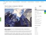 How to setup a company in Bahrain | Establish a company in Bahrain