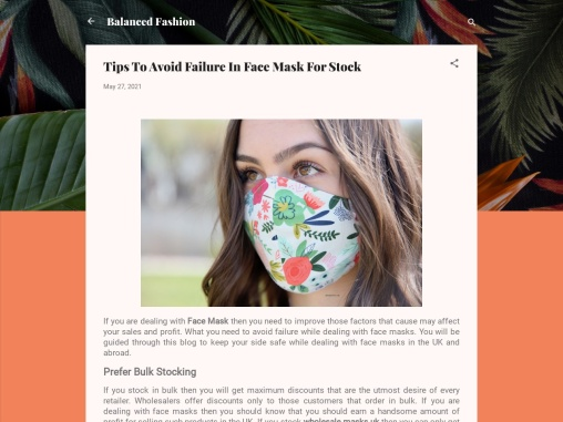 Wholesale Masks Uk – Best Tips To Avoid Failure In Face Mask For Stock!