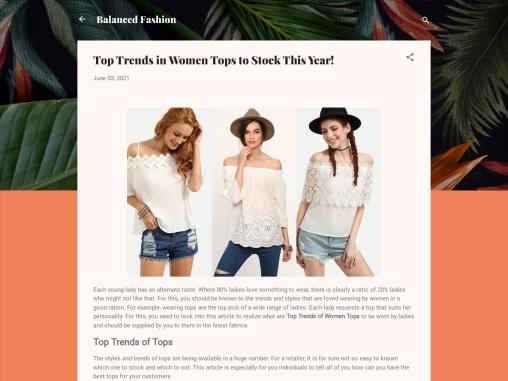 Ladies Summer Tops – Fast Ways to Boost Tops Sales