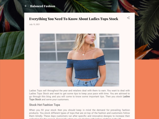 Ladies Tops – Wholesale Tops For Women