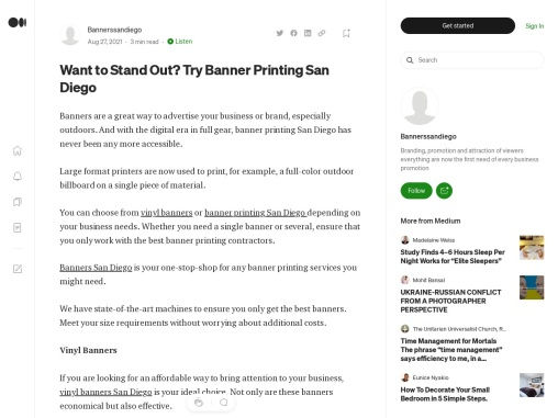 Want to Stand Out? Try Banner Printing San Diego