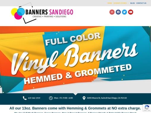 San Diego custom Banner Printing