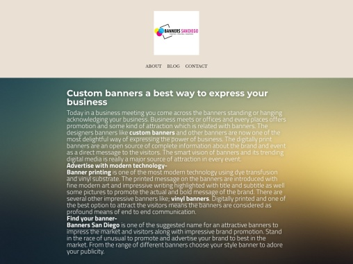 Custom banners a best way to express your business