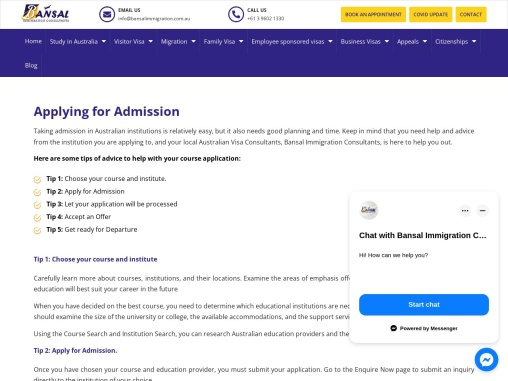 Admission in Australia- Bansal Immigration – Your Future, Our Priority