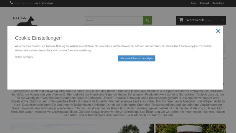 barfme.de Vorschau, BarfMe