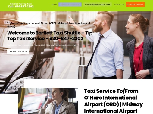Bartlett Taxi Shuttle to from Ohare Midway Airport