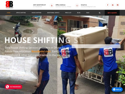 Office Shifting Services in Bangladesh