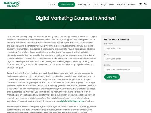 Digital Marketing Training Institute in Andheri | Digital Marketing course in andheri