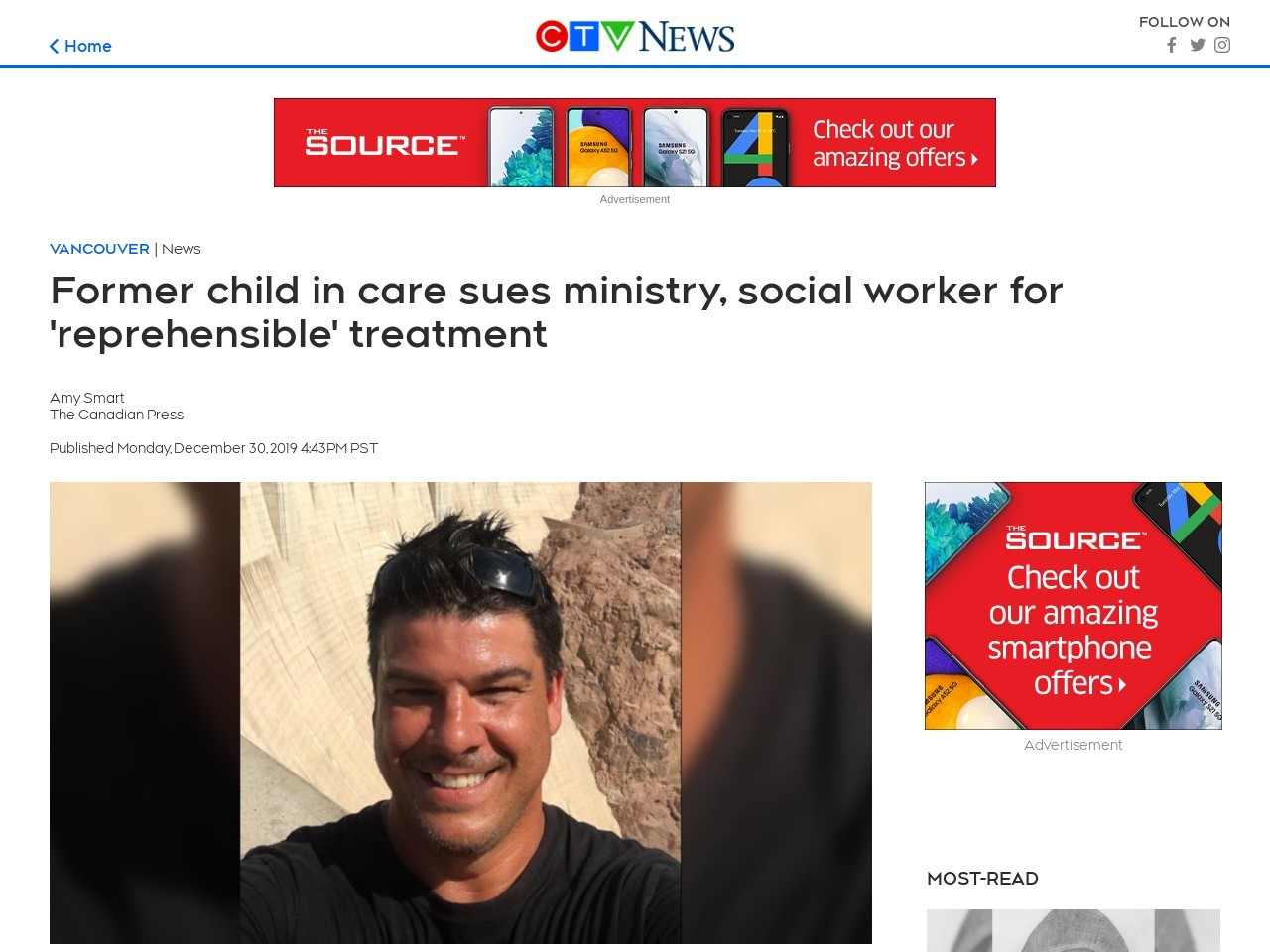 Former child in care sues ministry, social worker for 'reprehensible' treatment