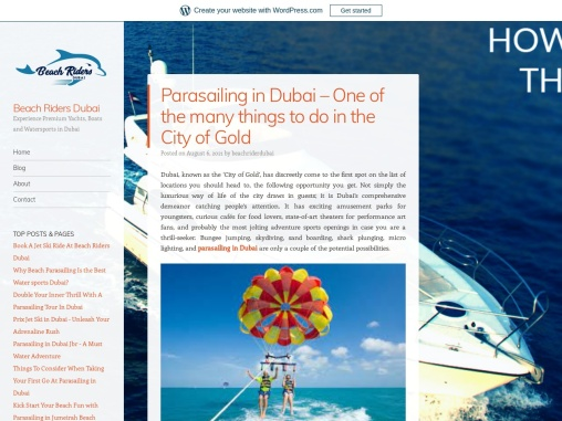 One of The Best Parasailing in Dubai