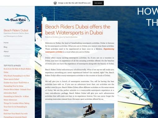 Beach Riders Dubai offers the best Watersports in Dubai