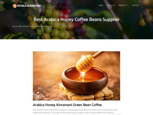 Top Arabica Honey Coffee Beans Supplier