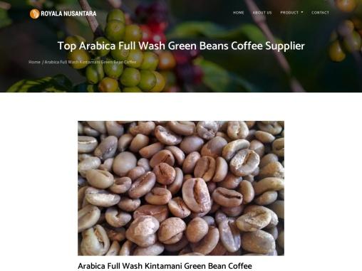 Top Arabica Full Wash Green Beans Coffee Supplier