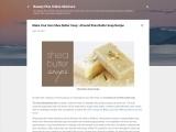 Make Your Own Shea Butter Soap : Almond Shea Butter Soap Recipe